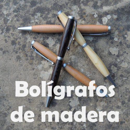 Boligrafos de madera
